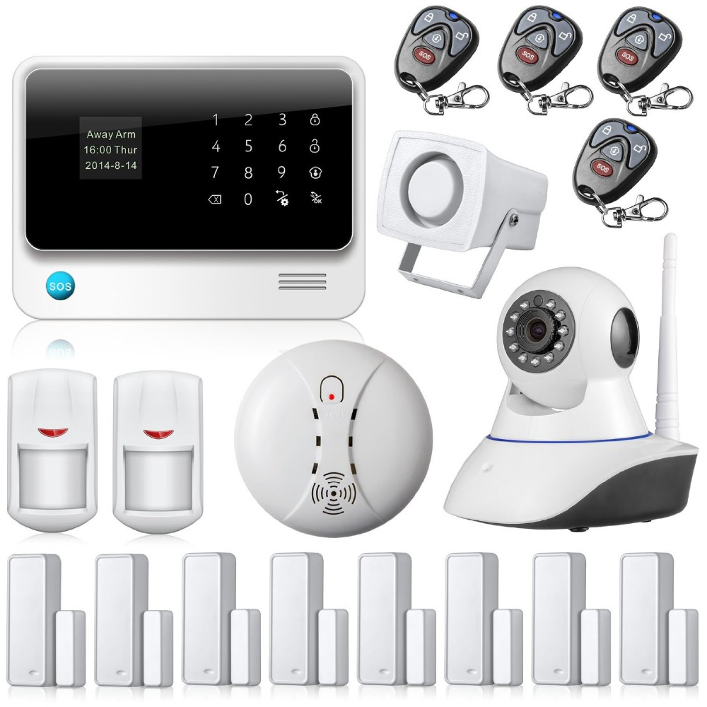 APP Controlled GSM WIFI Alarm System Wireless Security ...
