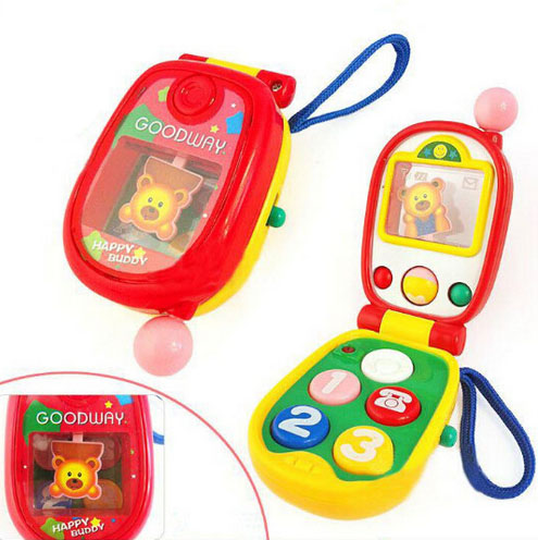 HOT!Baby Phone Toy Kids Electronic Mobile Phone Toys for Children New Year Gift Carton Packing Without Battery(China (Mainland))