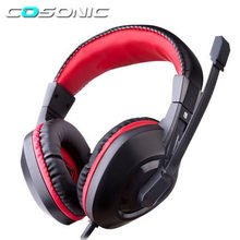 Cosonic 908 Earphones & Headphones Gaming Headset Headphone Microphone Gamer Studio Bass Noise Isolating Brand Dj 3.5mm