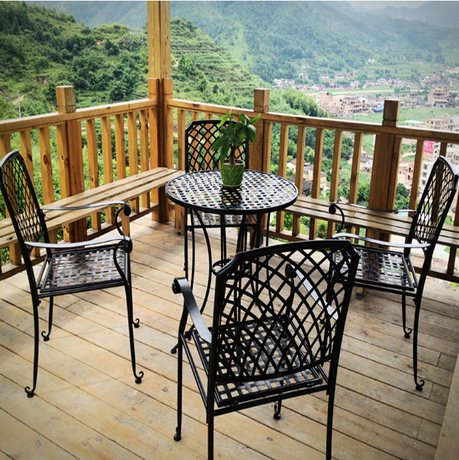 Inspirational collection of wrought iron patio furniture set.