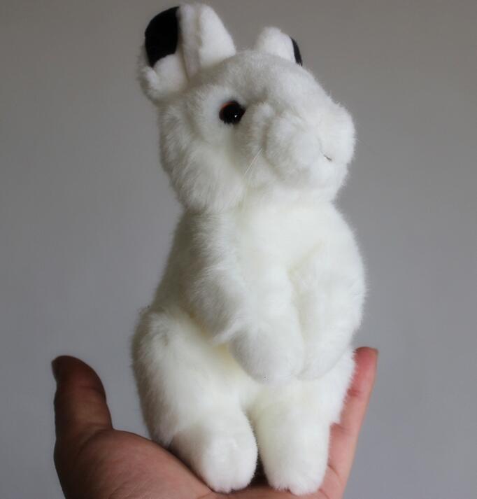 Simulation raquettes en peluche peluches jouets bébé jouet de noël cadeau d'anniversaire Mini animaux petit lapin blanc(China (Mainland))