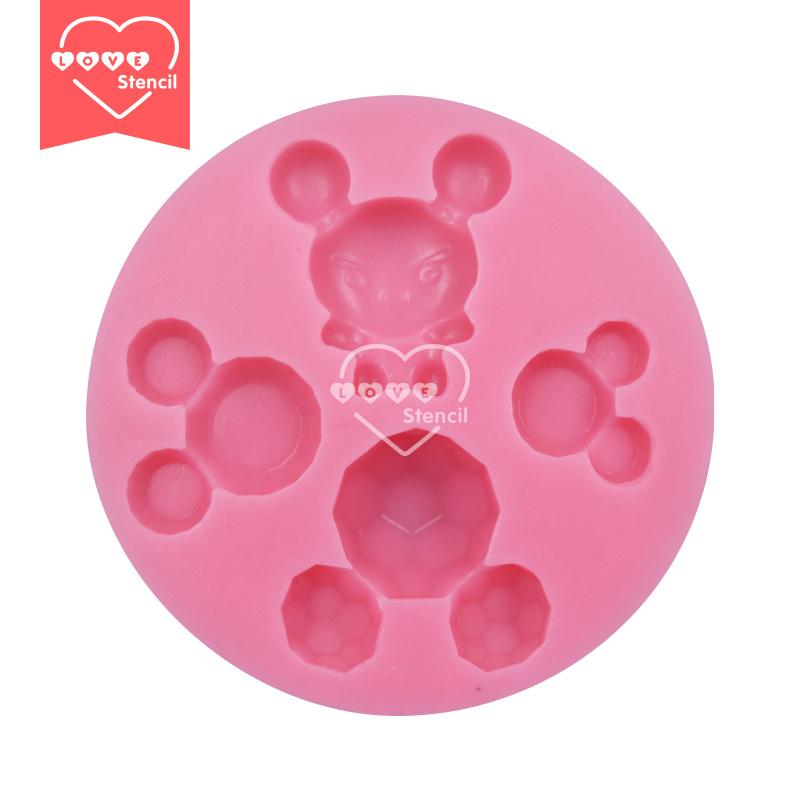 Cute Cartoon Animal Molds Silicon Cartoon Cake Mold,Silicone Fondant Molds,Fondant Cake Decorating Tools SM-036(China (Mainland))