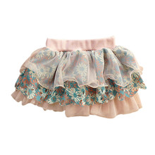 summer Baby girls skirt Chinoiserie skirt Girls chiffon Baby cake skirt