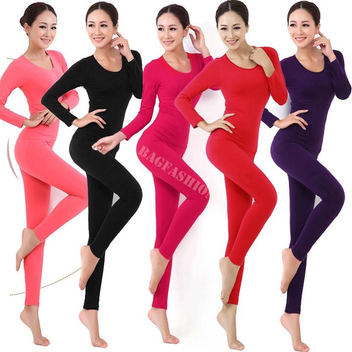 Winter Thermal Underwear Women 2014 Top Antibiosis Warm Long Johns Underwears Top + Pant Sexy Slim Comfortable 31(China (Mainland))