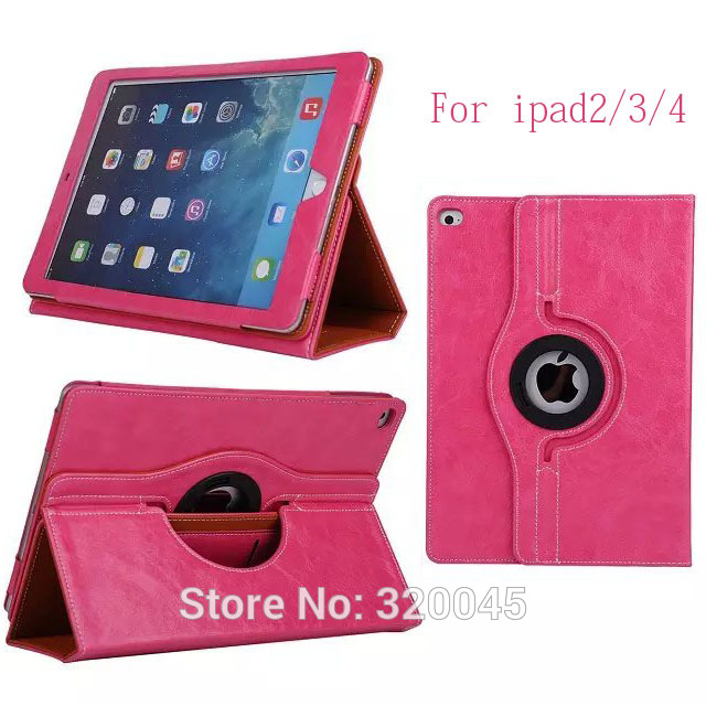 Business PU Leather Case For iPad 4 Smart Cover rotation holster for iPad2 stand ptotective shell for iPad3 back cover Case(China (Mainland))