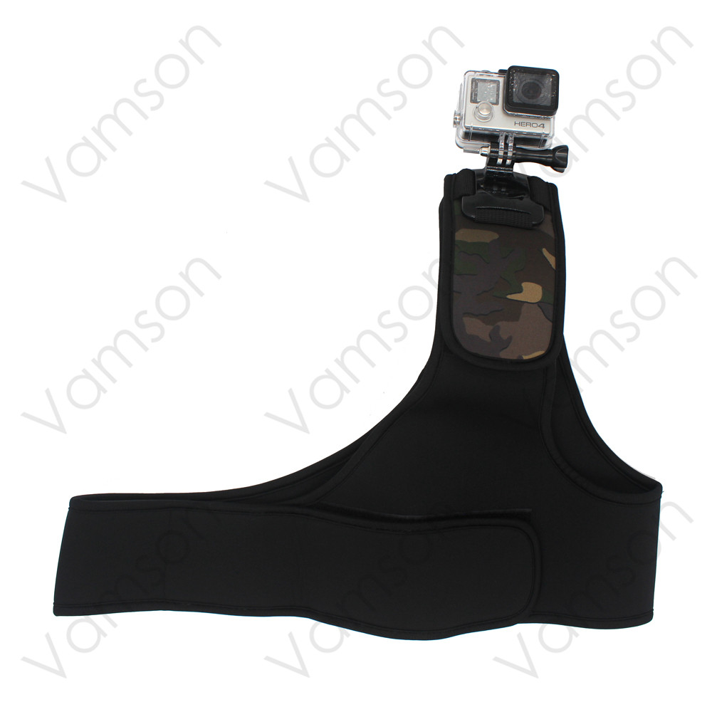 GoPro Accessories New Shoulder Harness Mount For Gopro Hero 4 3 3+ 2 1 Xiaomi Yi SJ4000 Camera Free shipping VP206