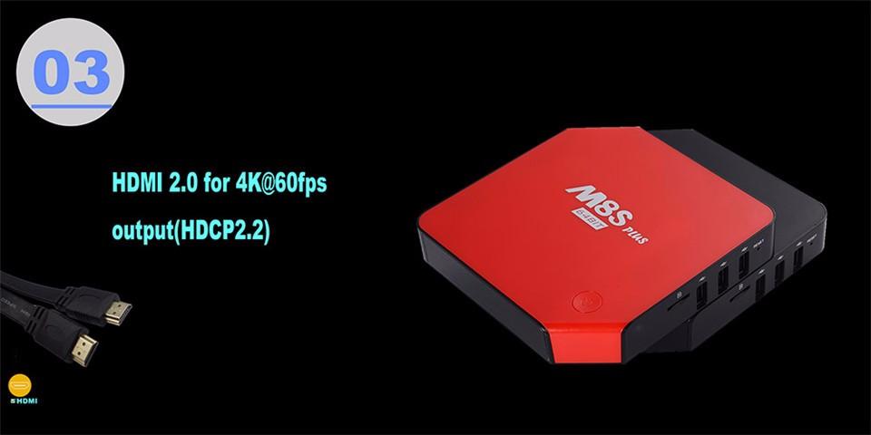 M8S PLUS Amlogic S905 Android5.1 4k Smart TV Box 2G16G 2.4G5.8G WIFI Gigabit LAN KODI Bluetooth DOLBY TrueHD (15)