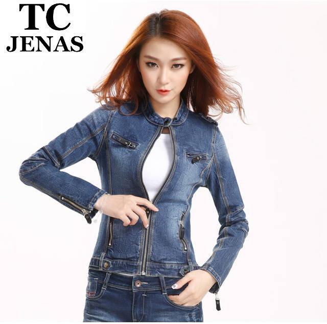 [TC] new 2014 hot selling women coat super fashion denim jacket for women the world style female denim jacket women outerwear