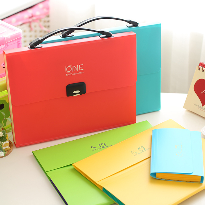 2015 Candy Color 12 A4 File Folder Bag For Documents,Multifunctional PP Plastic Office Document Wallet For Papers<br><br>Aliexpress