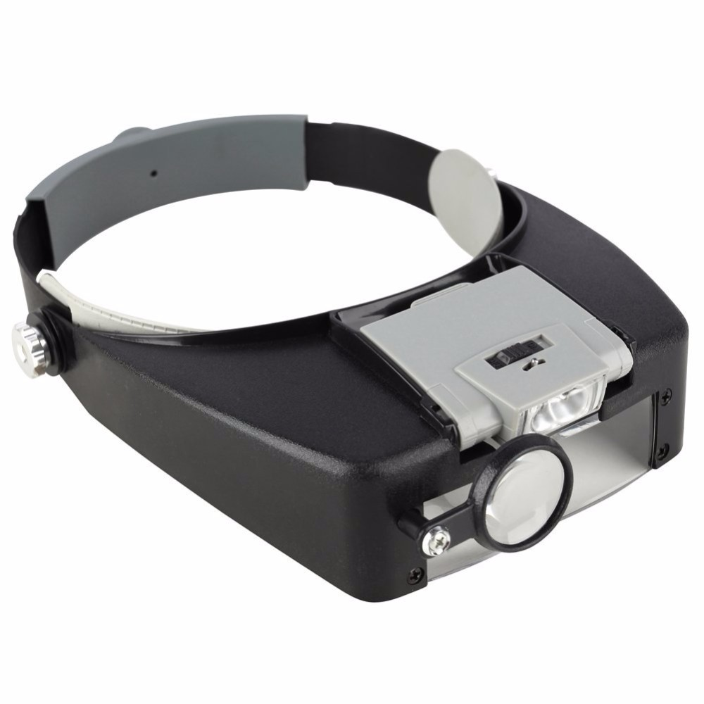 Beileishi Magnifying Glass Head Magnifier With Led Lights,1.5x 3 x 8.5x 10x Mounted Magnification Loupes