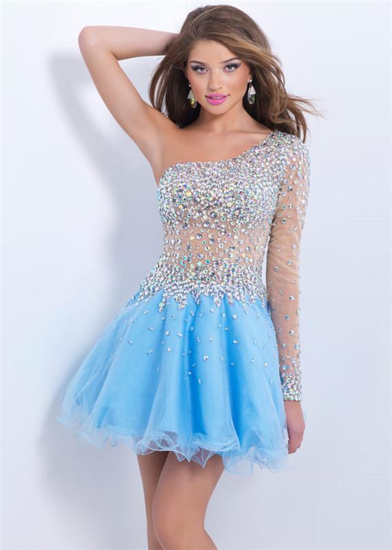 LIGHT BLUE HOMECOMING DRESSES - Omenas Benen