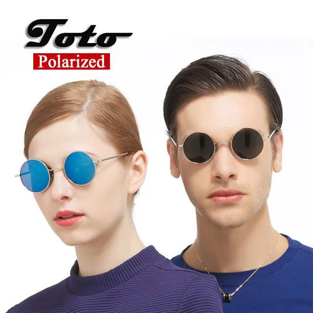 2016 новых классические поляризованные круглые очки мужчины малый урожай ретро зеркало ...