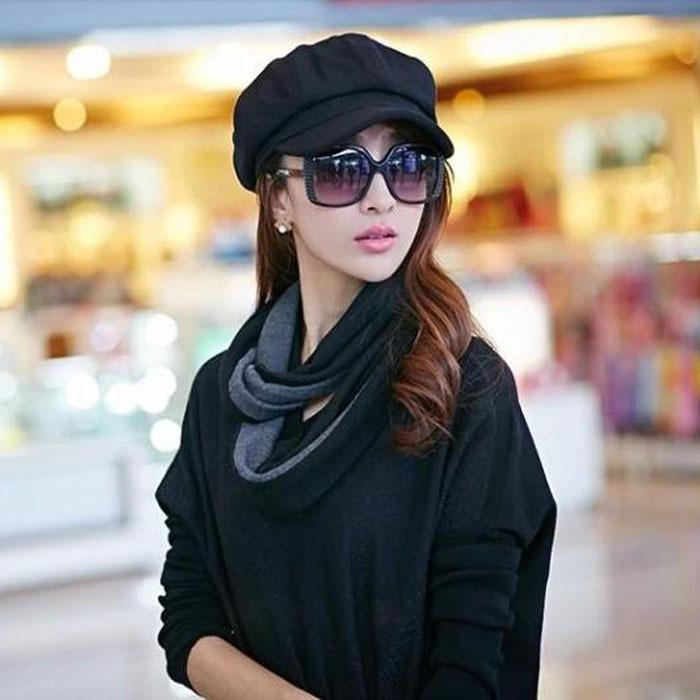 Autumn Style 2015 New Octagonal Hat Korean Version Casual Women Newsboy Cap Fashion Dome Boina