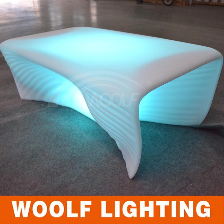 led tea table design plastic lounge center table(China (Mainland))