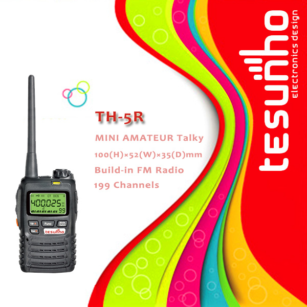 TESUNHO TH-5R long range kid small compact pc programmable 5w hand held transceivers(China (Mainland))