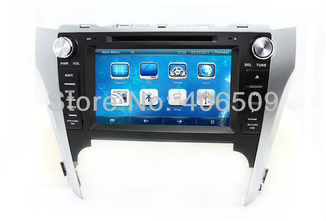 "8"" Head Unit Car DVD Player GPS Navigation for Toyota Camry 2012 with Radio BT TV Map USB SD AUX Audio Video Stereo Navigator"