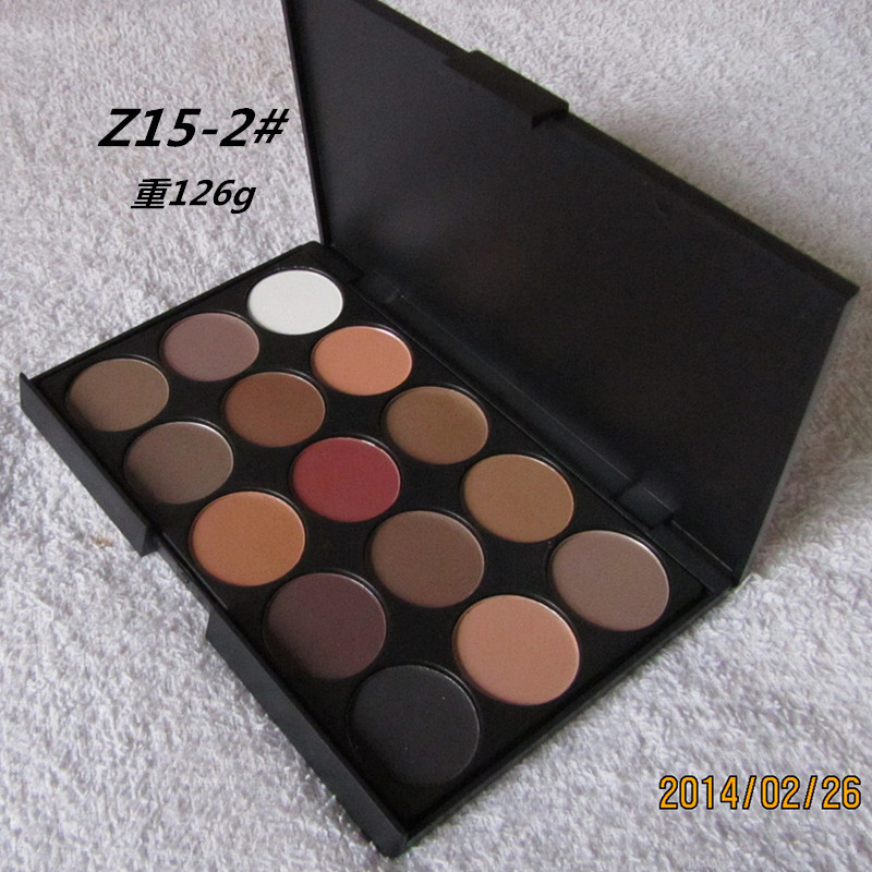 3 Different New fashion 15 Earth Colors Matte Pigment Eyeshadow Palette Cosmetic Makeup Eye Shadow for women free shipping(China (Mainland))