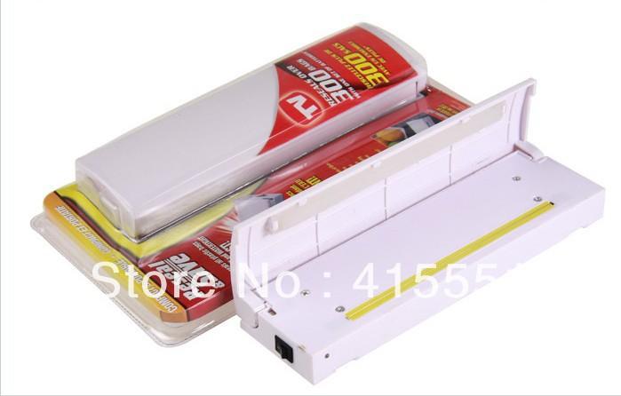 Portable Reseal & Save Handy Plastic Food Saver Storage Bag Sealer Keep Food Fresh Vacuum Packer Free Shipping 160pcs/lot(China (Mainland))