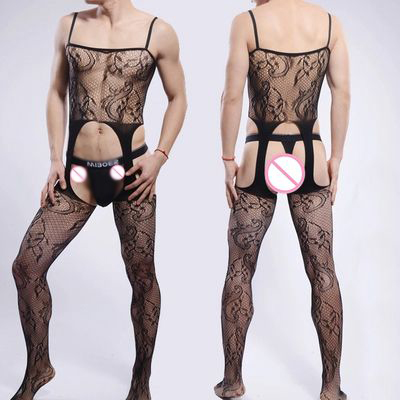 2016 Sexy Multicolor Men Socks Body stockings Gay Net Mesh Erotic Underwear Men Open-crotch Pantyhose Bodyhose Men stocking