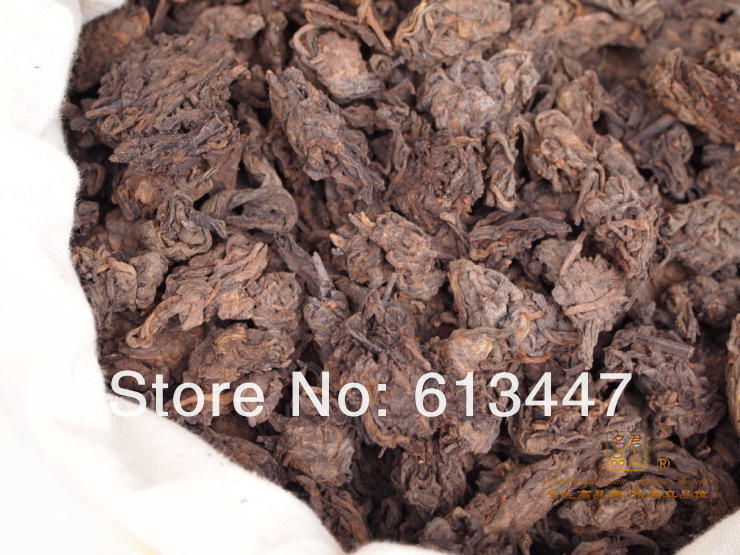 1000G Mellow Taste,old year MengHai LaoCha Tou,loose puer tea, Ripe Puerh Tea, Free Shipping(China (Mainland))