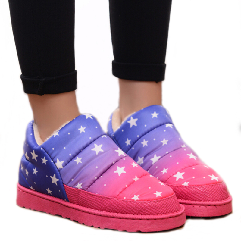 2016 women snow boots waterproof calzado mujer winter sapato feminino women's ankle boots warm outdoor shoes mixed colors(China (Mainland))