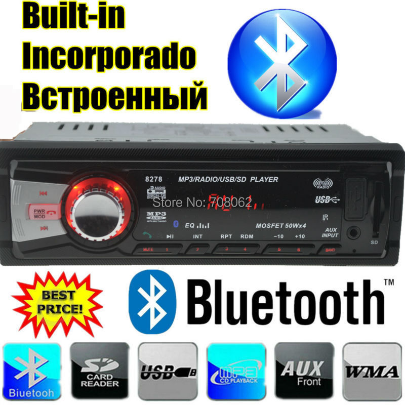 Us Stock1 Din Car Radio Size Stereo Fm And Mp3 Player: 2015 New Style Car Radio Bluetooth 1 Din Size MP3 Car