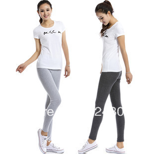 Free shipping Solid color Cashmere Leggings Breathable Health And Comfortable Four-color Leggings Fabric Soft And Cozy