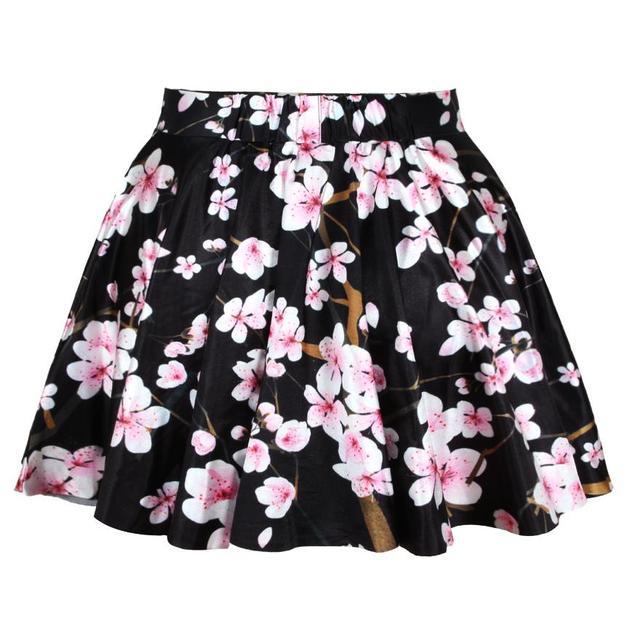 Горячая мода черный вишни шаблон летний стиль легкость новый свободного покроя женщины ...