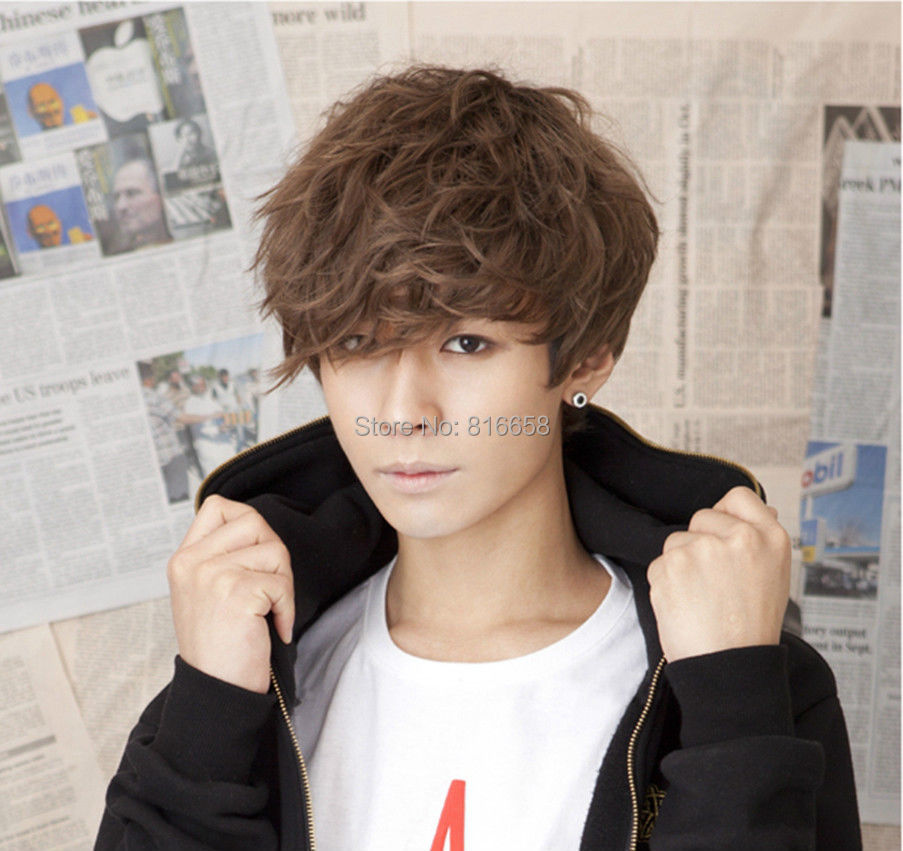 Free shipping@@Hot style! Handsome Boys Wig Korean Fashion Short Men Hair Cosplay Wigs(China (Mainland))