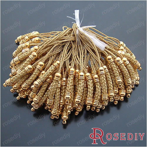 wholesale 25 5mm gold cords with copper findings copper