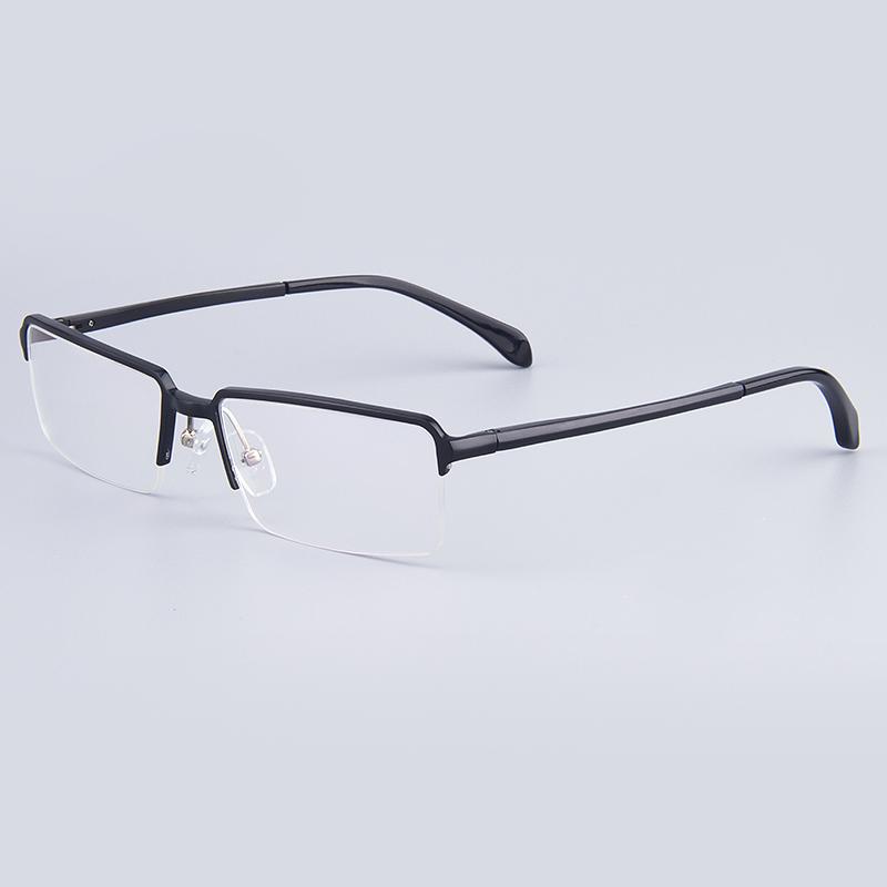 Brand Optical Frames Business Men Glasses Frames Women Hydronalium Rectangular Full-Rim Glasses Frames With Spring Hinge On Legs(China (Mainland))