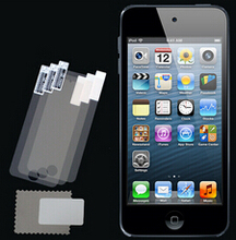 3pcs/lot CLEAR 0.125mm PET Screen Protector for Apple iPod Touch 5