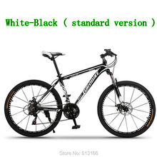 European Bike Standard Version-White Black MTB / 26inch Unisex Mountain bicycle complete 21-Speed bikes As Christmas Gift