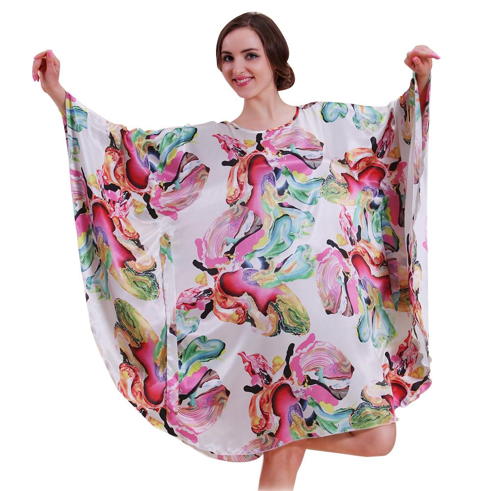 2016 Big Size Summer Hot Sale Sleep Top For Women Special Offer Faux Silk Women Sleepwear Of Home Clothing Sleepshirt 10101(China (Mainland))