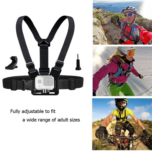Accessories Kit for Gopro Hero Eken SJCAM Bag Chest Head Mount strap Float Tripod for Go Pro Accessories Sports Action Camera 15