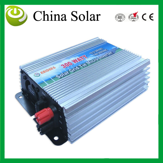 300W MPPT grid tie solar inverter,10.5-28V DC,180-260V AC,Solar grid tie inverter,CE,IP23 indoor design(China (Mainland))