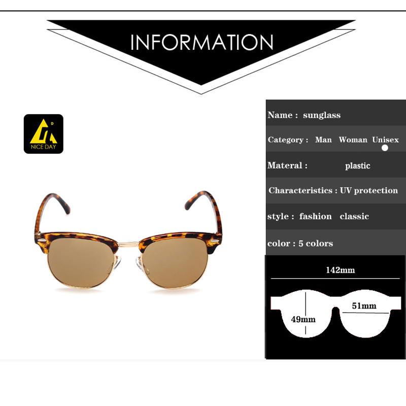 Fashion clubmaster Sunglasses mens Classic Retro brand designer sun Glasses for women wayfarer outdoors oculos de