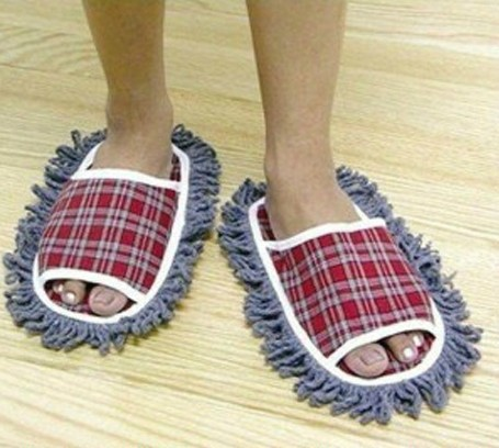 2015 NEW DESIGN House/Home Slippers Lazy Shoes Cover Dust House Bathroom Floor Cleaning Mop Cleaner 1Pair J0009(China (Mainland))