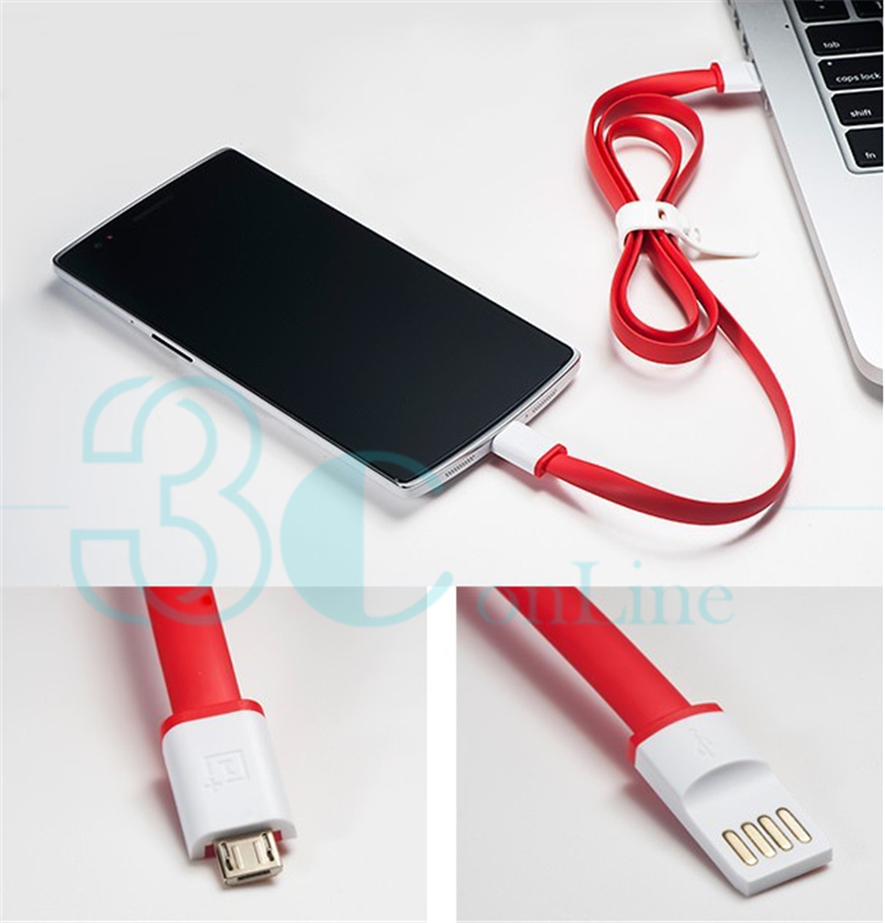 Genuine Official Original for Oneplus One Micro USB Charge Charging Data Cable Accessories 80CM In Stock Brand New(China (Mainland))