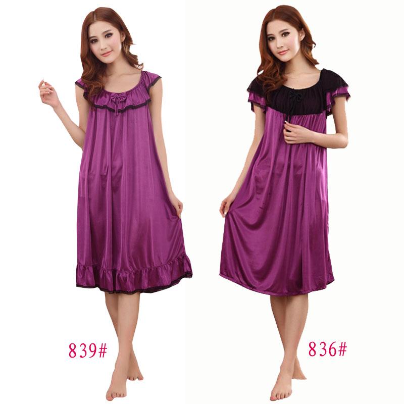 women's silk nightgowns…