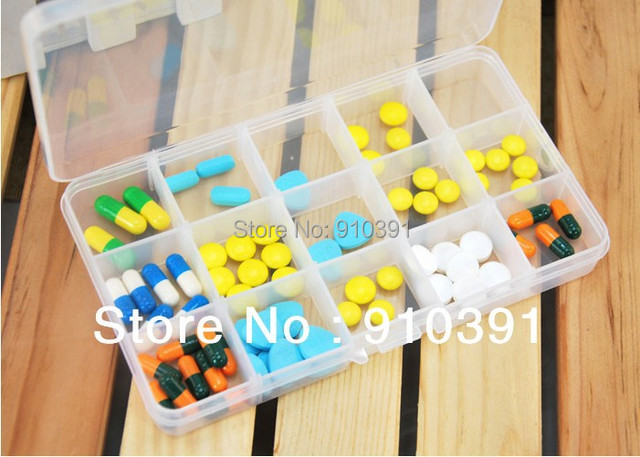 Free shipping 15 Grids DIY Jewelry box as Detachable pill box plastic case container for Small Gadget Cosmetic collecting box.