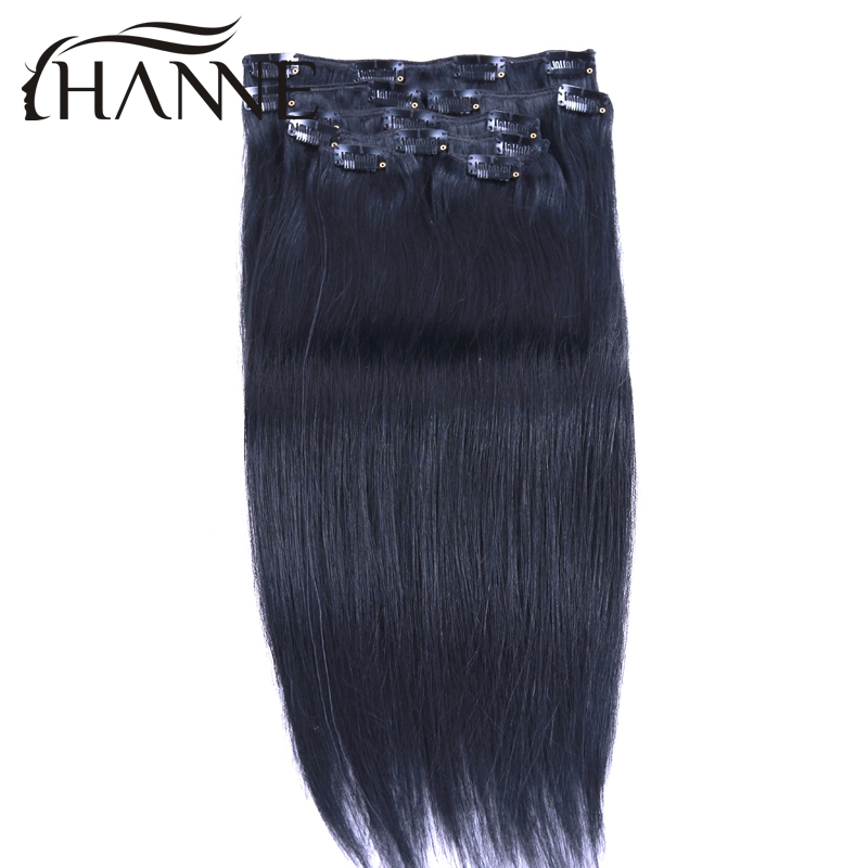 Remy Virgin Brazilian Hair Clip In Extensions 120G Clip In Brazilian Hair Extensions 1B Black Clip In Human Hair Extensions<br><br>Aliexpress
