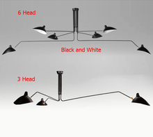 Modern 3 Arm 6 Arm Serge Mouille Pole Ceiling Lights Iron Lampshade Decor Ktchen Ceiling Lamps Fixture for Home Indoor Lighting(China (Mainland))
