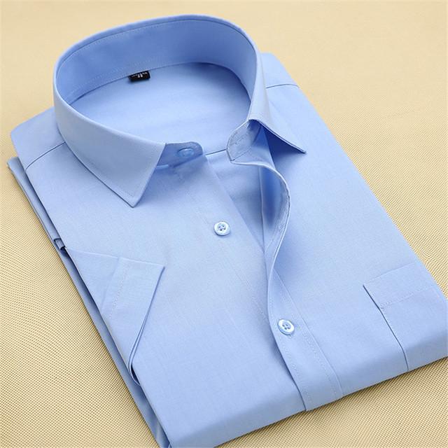 2016 мужская бизнес свободного покроя с короткими рукавами мужской тонкой рубашки ...