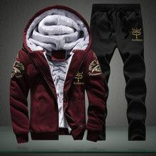 Tracksuits ผู้ชาย 2018 ชายฤดูหนาว Tracksuit ชุดสูทผู้ชาย Track ชุดเสื้อ + กางเกง Outwear แจ็คเก็ตเบสบอลและ Sweatpant(China)