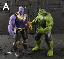 Hasbro Marvel Avengers Figuras de Brinquedo Ação Thanos 16 centímetros Boneca Herói Homem De Ferro Hulk Thor Spiderman Decoração Modelo de Brinquedo Das Crianças presente(China)
