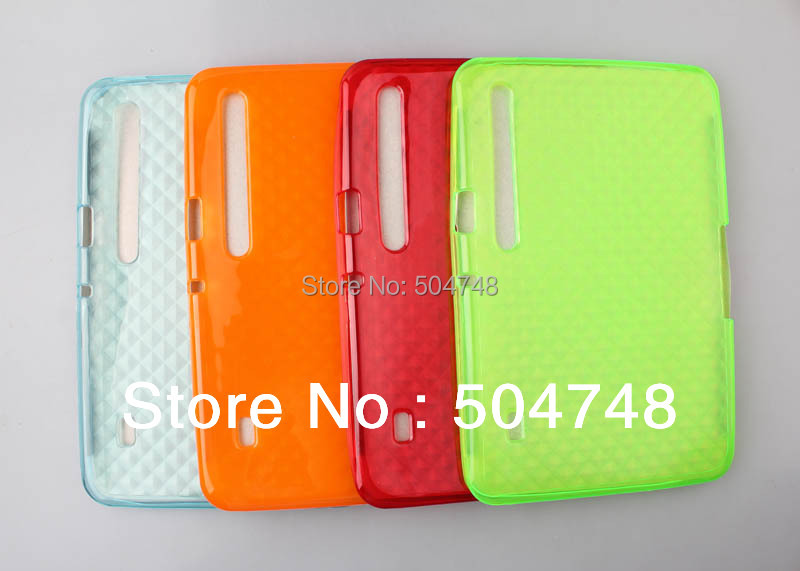 Free Shipping Gel Soft TPU Tablet Back Cover Case For Motorola XOOM TPU Back Cover Case(China (Mainland))