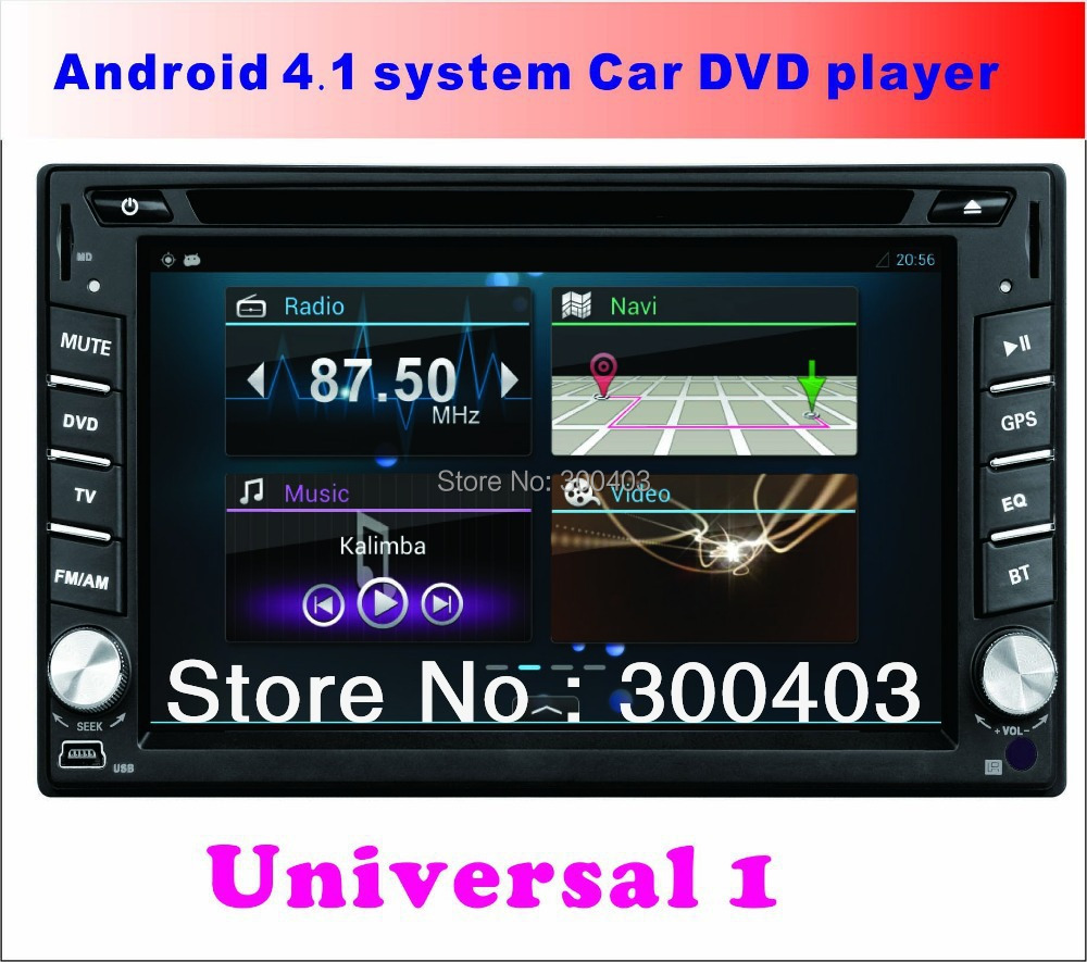 "NEW Universal 8GB 6.2"" LCD Android 4.2 AUTO VEHICLE Car multimedia PC DVD Player LAPTOP GPS Navigation 1GHZ 3G WIFI Bluetooth TV(China (Mainland))"