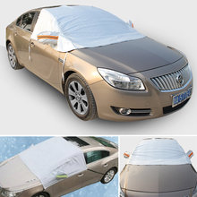 Universal Half Car Covers Sunshade Styling Foil Waterproof Thicken Snow Shield Anti-UV Snow Car Scratch Covers For Cars(China (Mainland))