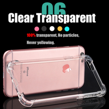 cover fundas Coque for iphone 6S Armor Transparent TPU silicone phone case for iphone 6 S 6s for iphone6